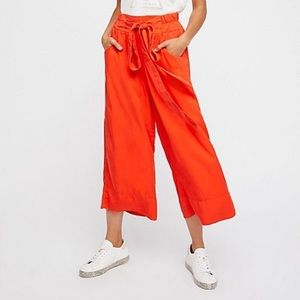 🔥SALE Free people the Rex pant orange wide leg m